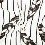 White And Black Stripes Pattern Inbox Fabric (Width 56 Inches)