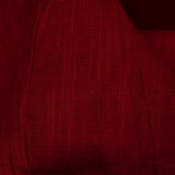 Maroon Plain Cotton Slub Fabric