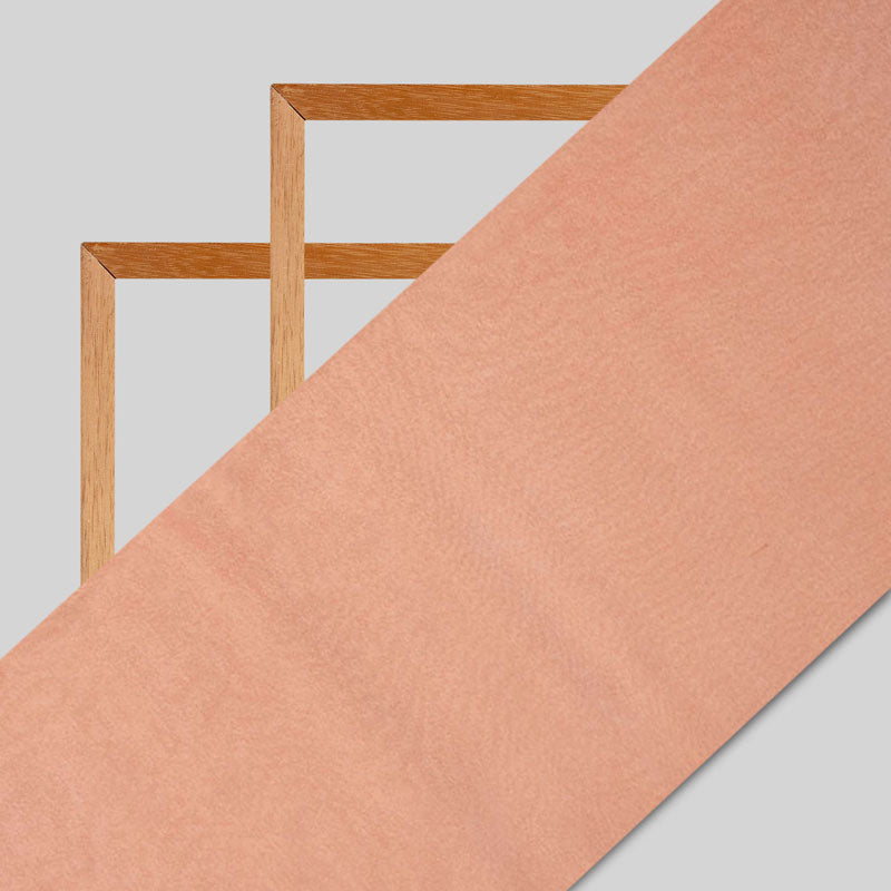 Peach Plain Viscose Chinon Chiffon Fabric