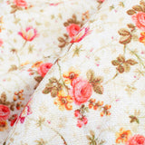 Cream And Peach Floral Pattern Digital Print Furnishing Fabric (Width 54 Inches) - Fabcurate