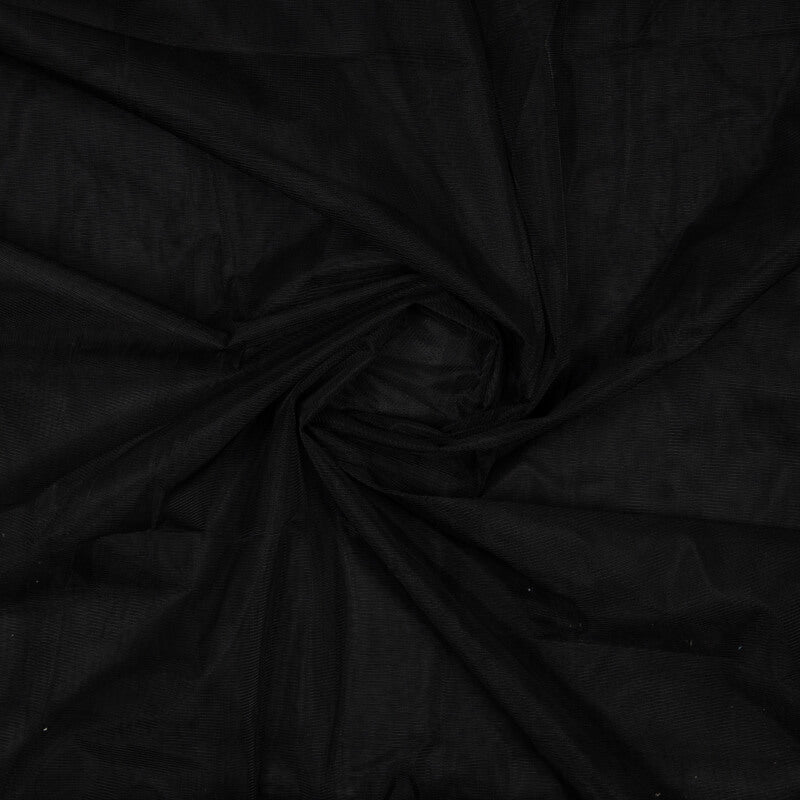 Black Plain Premium Quality Butterfly Net Fabric