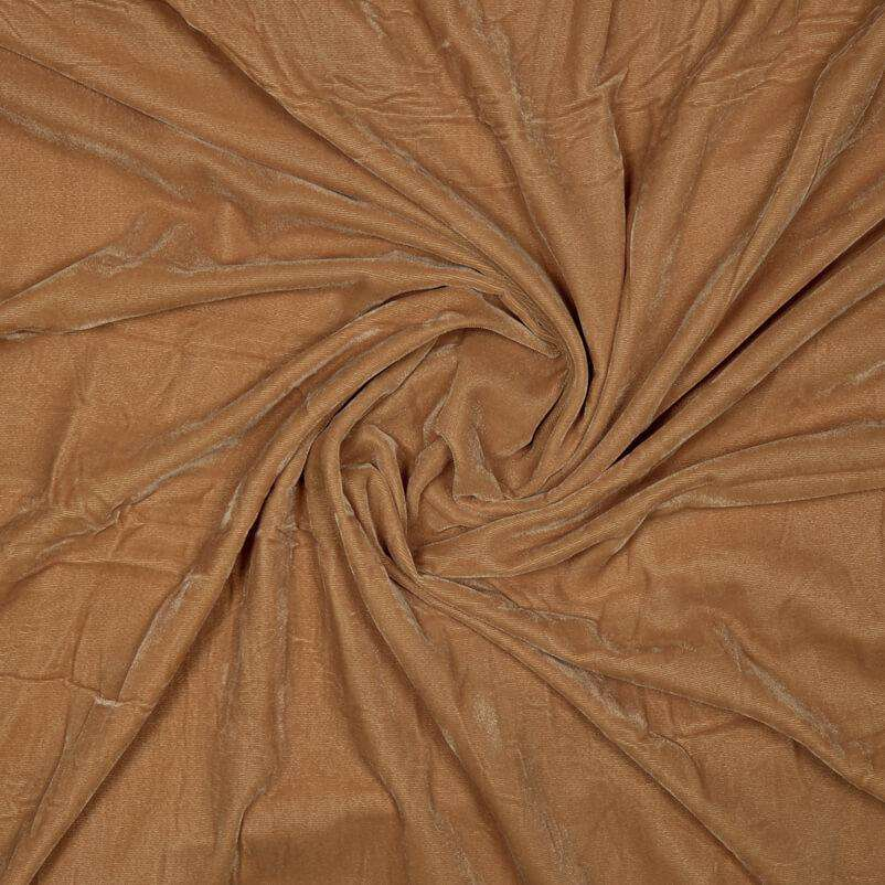 Light Brown Plain Imported Quality Micro Velvet Fabric