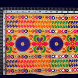 Multicolor Thread Embroidery Lace (9 Mtr)