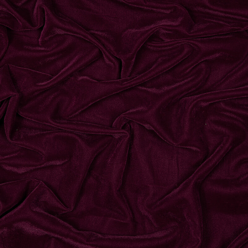 Burgundy Plain Imported Quality Micro Velvet Fabric