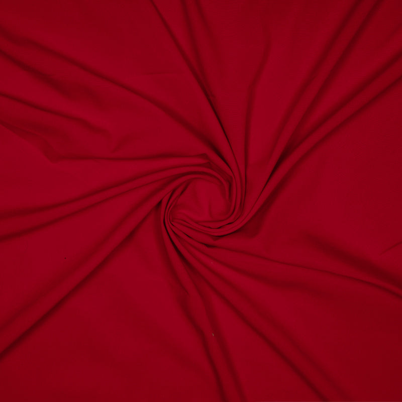Red Plain Micro Crepe Fabric