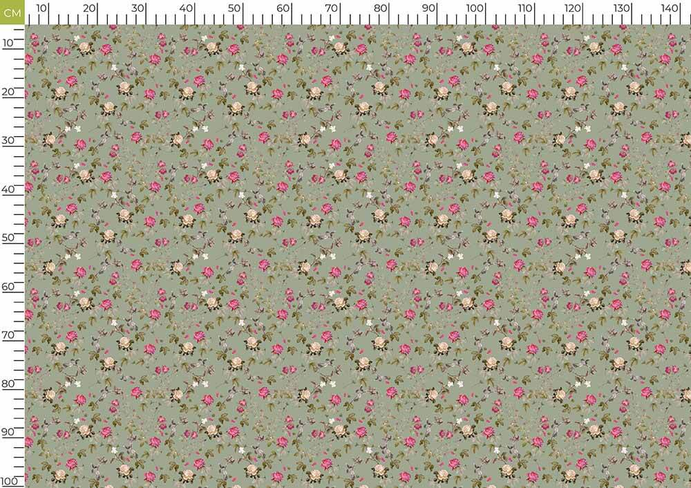 Pewter Grey And Fuchsia Floral Pattern Digital Print Curate