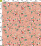 Peach And Melon Orange Floral Pattern Digital Print Curate