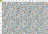 Greyish Purple And Peach Floral Pattern Digital Print Curate