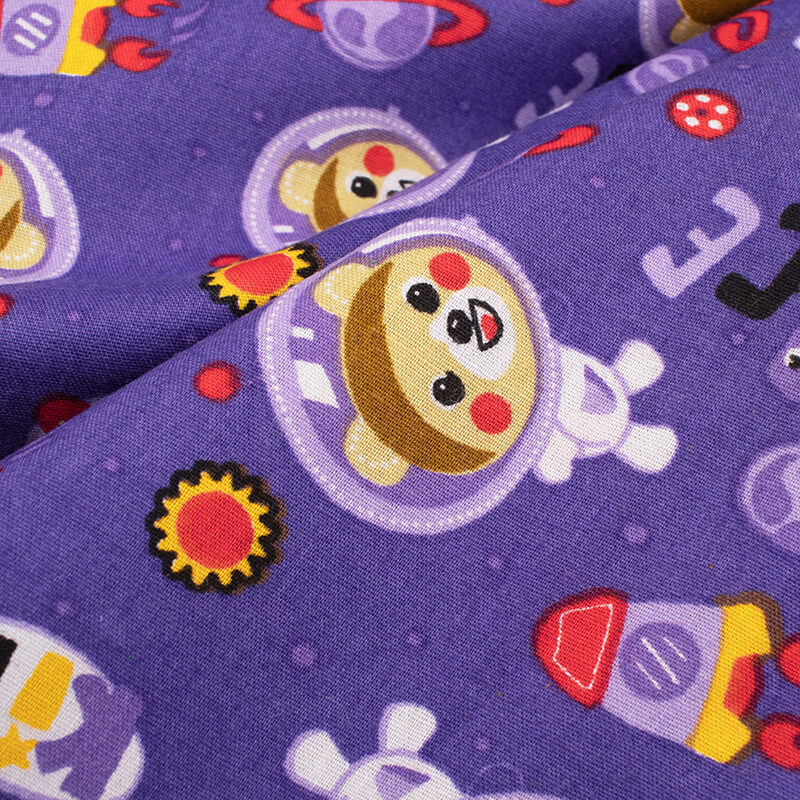 Grape Purple And Red Kids Print Cotton Cambric Fabric