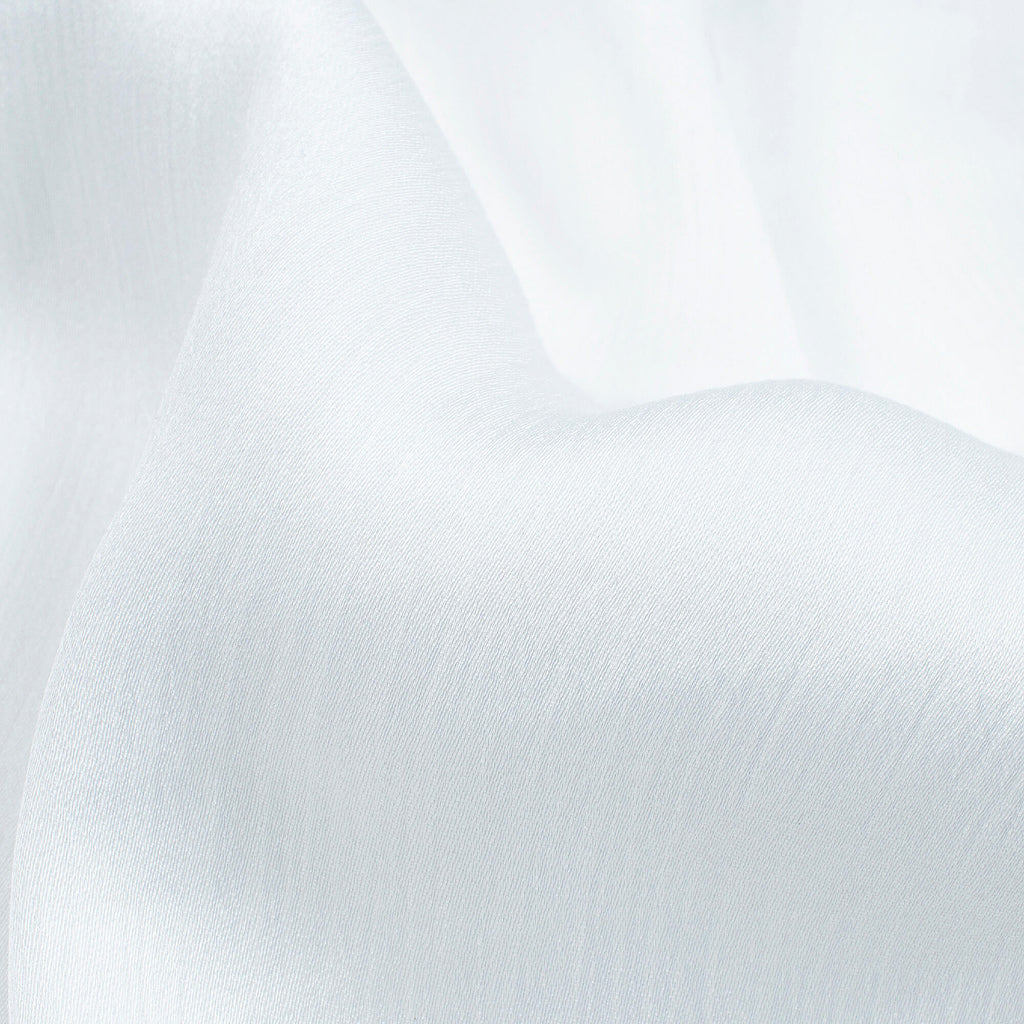 White Plain Premium Chiffon Satin Fabric - Fabcurate