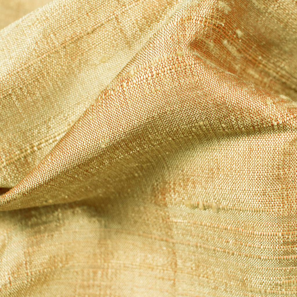 Beige Plain Premium Dupion Pure Raw Silk Fabric