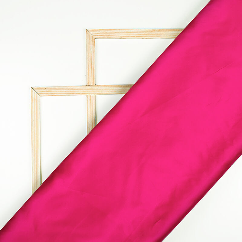 Dark Pink Plain Neon Ultra Satin Fabric