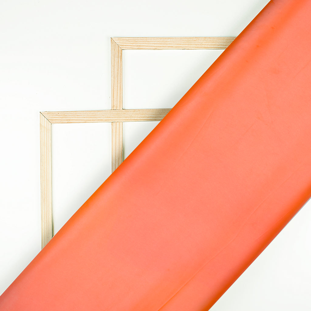 Coral Orange Plain Neon Ultra Satin Fabric - Fabcurate
