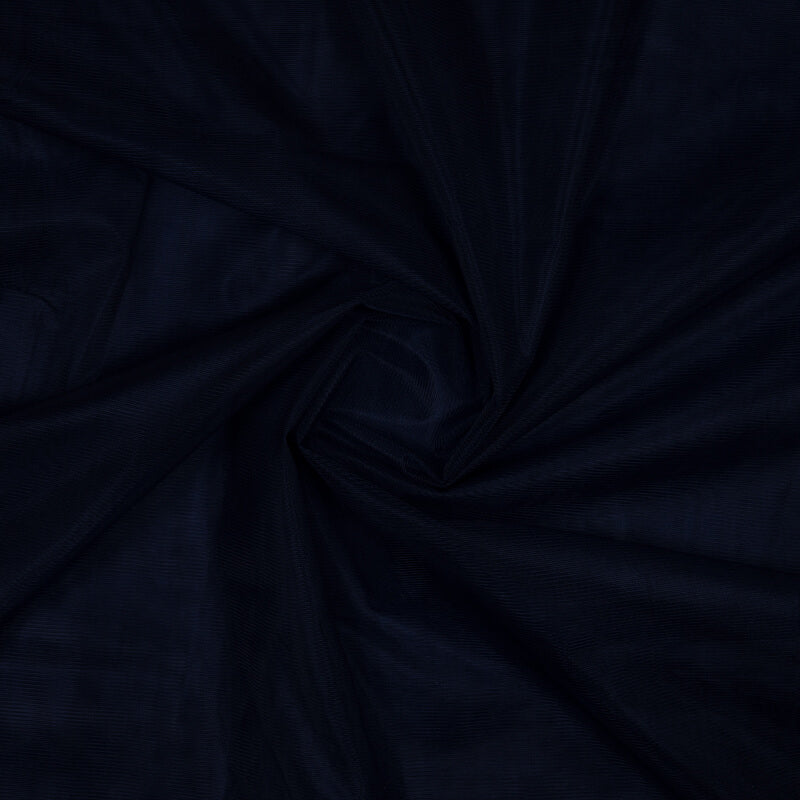 Navy Blue Plain Premium Quality Butterfly Net Fabric