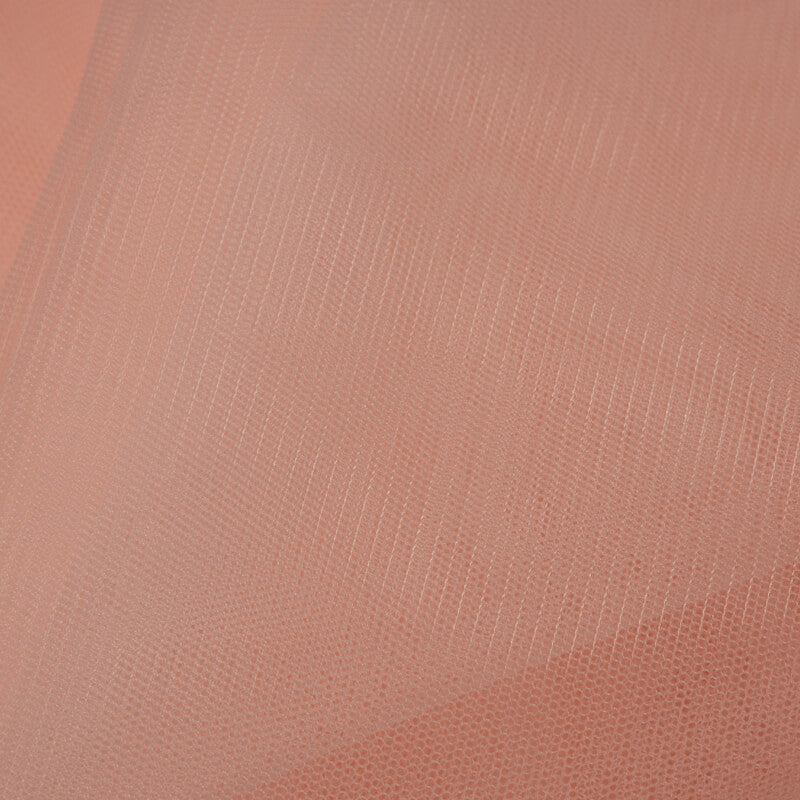 Pastel Orange Plain Premium Quality Butterfly Net Fabric