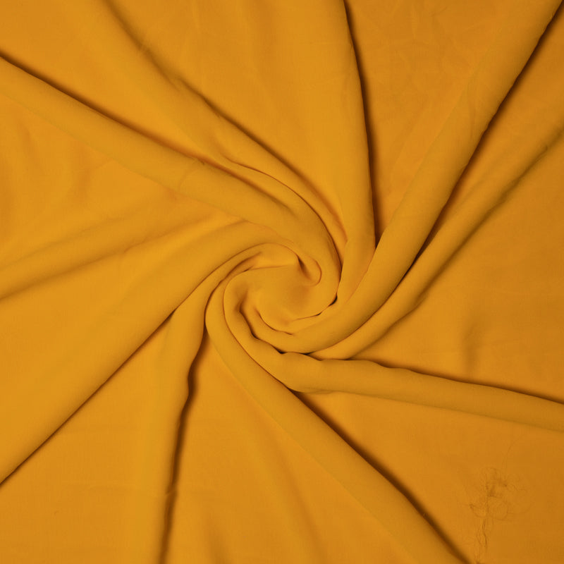 Yellow Plain Georgette Fabric