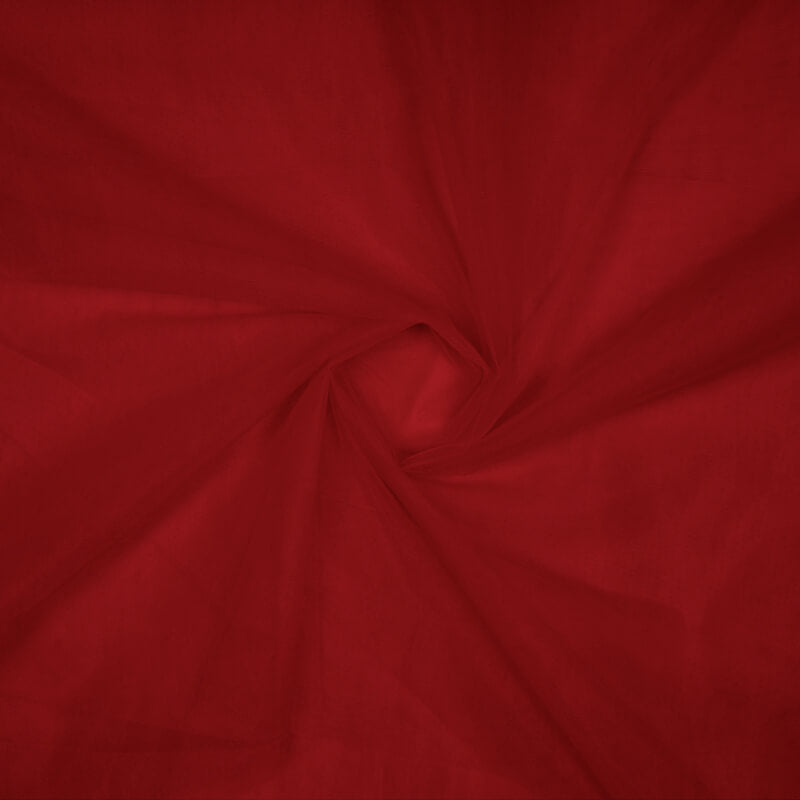Red Plain Premium Quality Butterfly Net Fabric