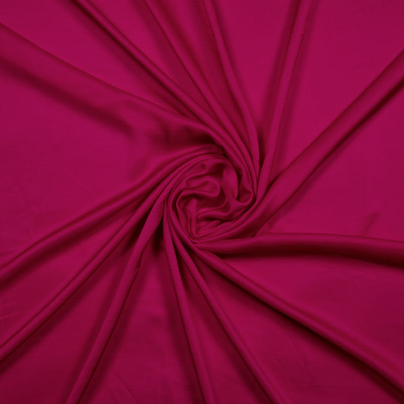 Dark Pink Plain Modal Satin Fabric