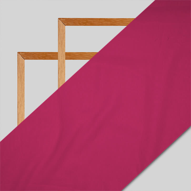 Light Fuchsia Plain Georgette Fabric