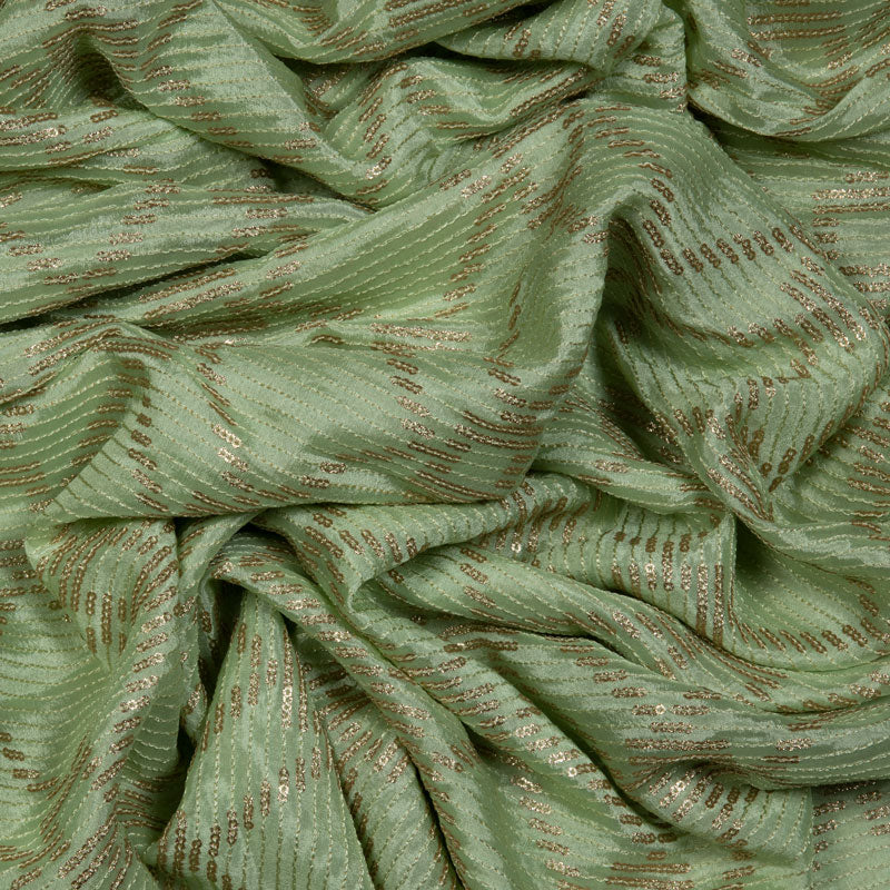 Pastel Green Geometric Pattern Seqiuns Chinon Fabric