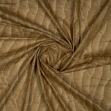 Brown Abstract Pattern Screen Print Glaze Cotton Fabric