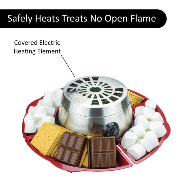 Brentwood Appliances Indoor Electric Stainless Steel S'mores Maker With 4 Trays And 4 Roasting Forks - Blend Fit Portables™