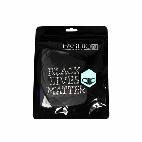 Black Lives Matter Fashion Studded Mask - Blend Fit Portables™