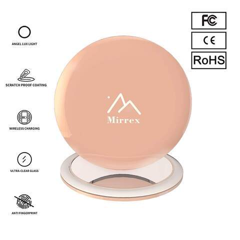 Mirrex Portable lighted makeup mirror with Wireless Charging Base - Blend Fit Portables™