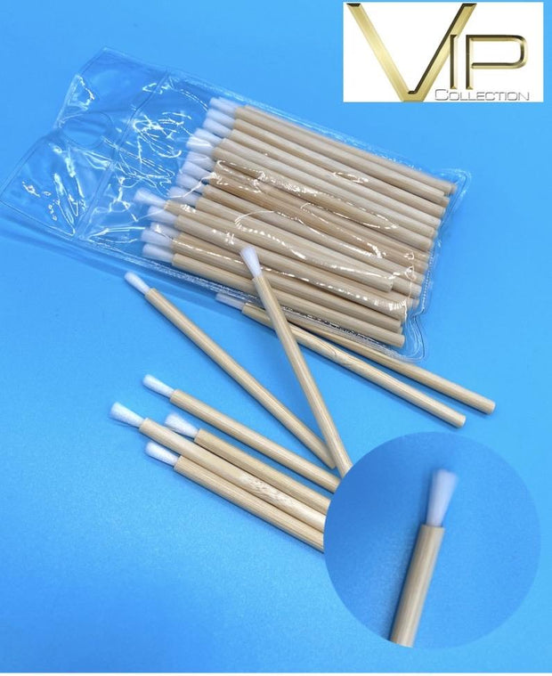 VIP - Eyelash accessories- Brushes with Bamboo Handle 50pc/bag - Blend Fit Portables™