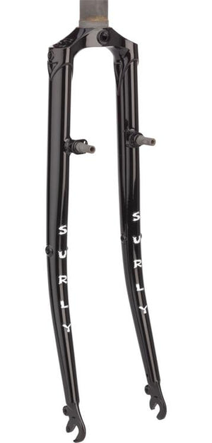 "Surly Cross Check Fork 700c 1-1/8"" Threadless, Blk"