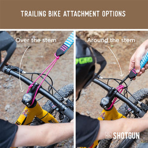 Shotgun MTB Tow Rope + Kids Hip Pack Combo Trailin