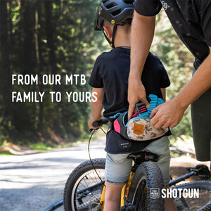 Shotgun MTB Tow Rope + Kids Hip Pack Combo Family