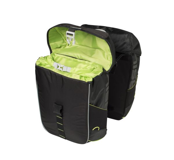 basil-miles-bicycle-double-bag-34l-black open