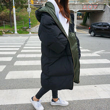 Load image into Gallery viewer, Autumn Winter Jacket Women Parka Warm Thick Long Down Cotton Coat Female Loose Oversize Hooded Women Winter Coat Outerwear Q1933