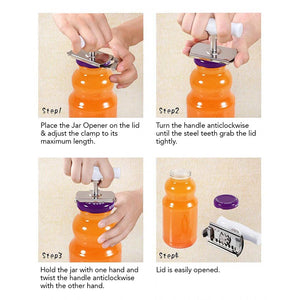 Glass Bottle Jar Lid Opener
