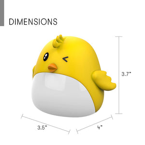 USB Alarm Clock & Night lamp Yellow Bird Chick for Kids Bedroom