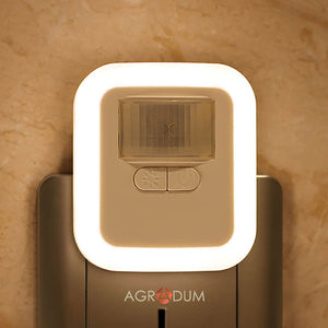LED Plug-in Motion Sensor Night Light Brightness Adjustable for Room