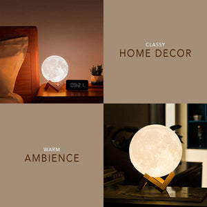 Moon Lamp Night Light with Stand, Touch Sensor & Remote Control (16 Colors)