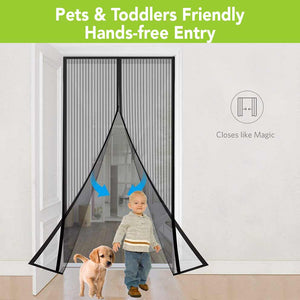 Pets and Kids Friendly, Hands-Free Entry Mosquito Mesh Screen
