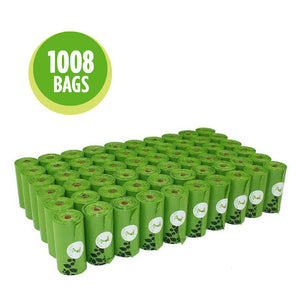 56 rolls green dog poop waste bags earth friendly