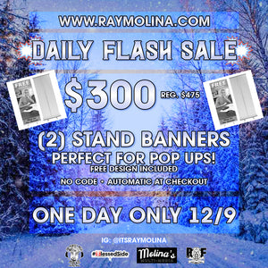 Today's Daily Flash Sale - 2 Roll Out Banners!