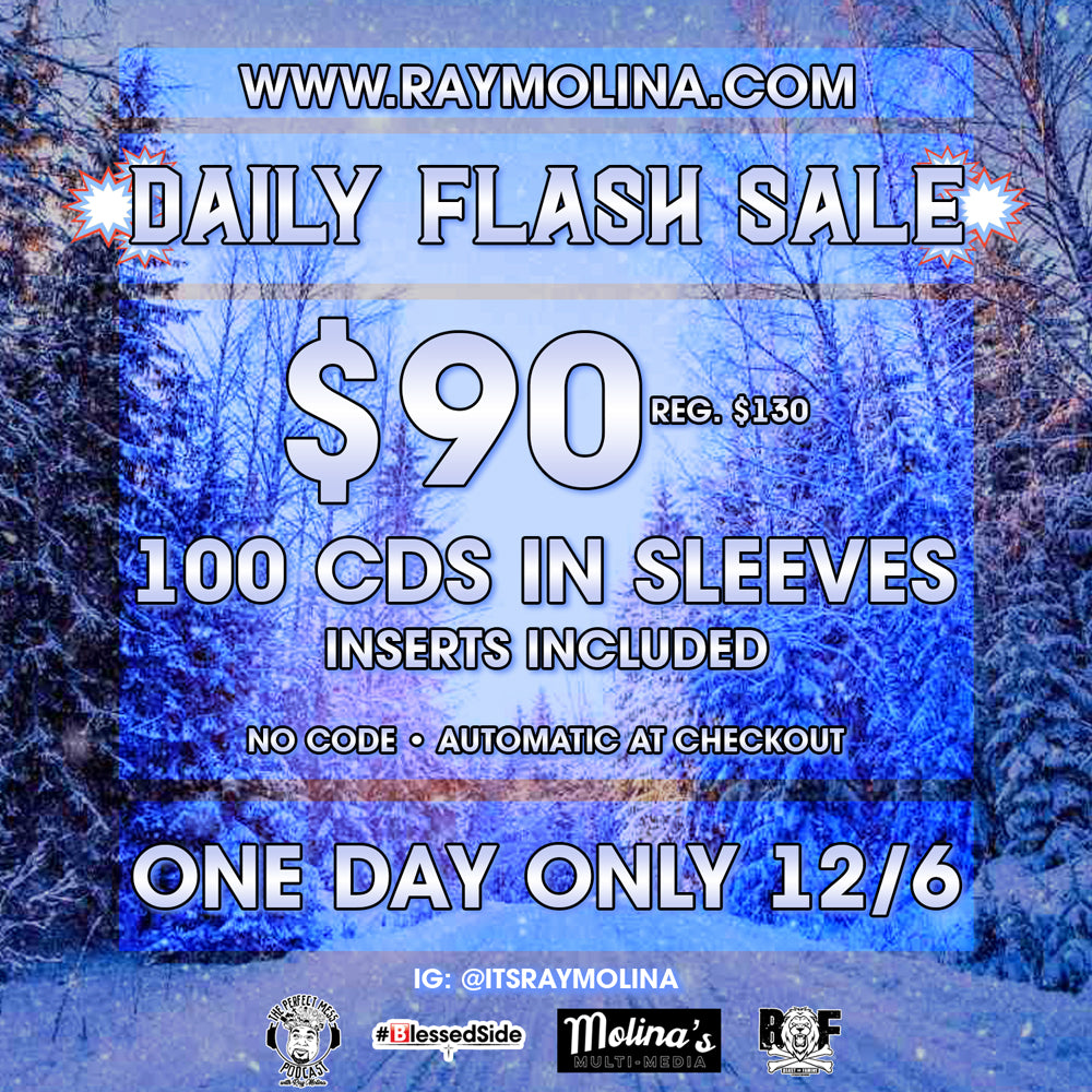 Today's Daily Flash Sale! - 100 CDS in Sleeves!