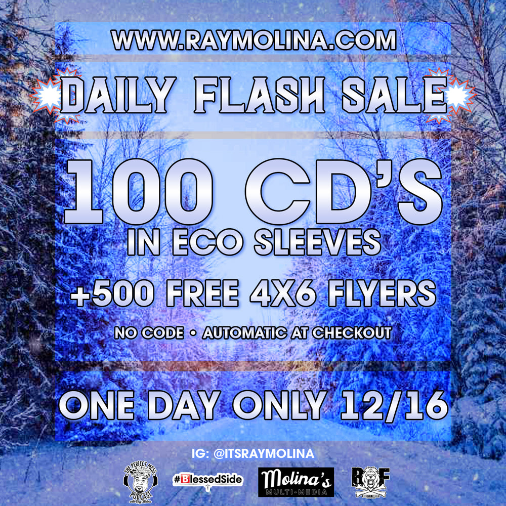 Today's Daily Flash Sale! 100 CD's + Free Flyers!