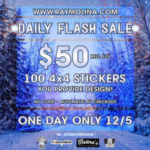 Today's Daily Flash Sale - 4x4 Stickers!