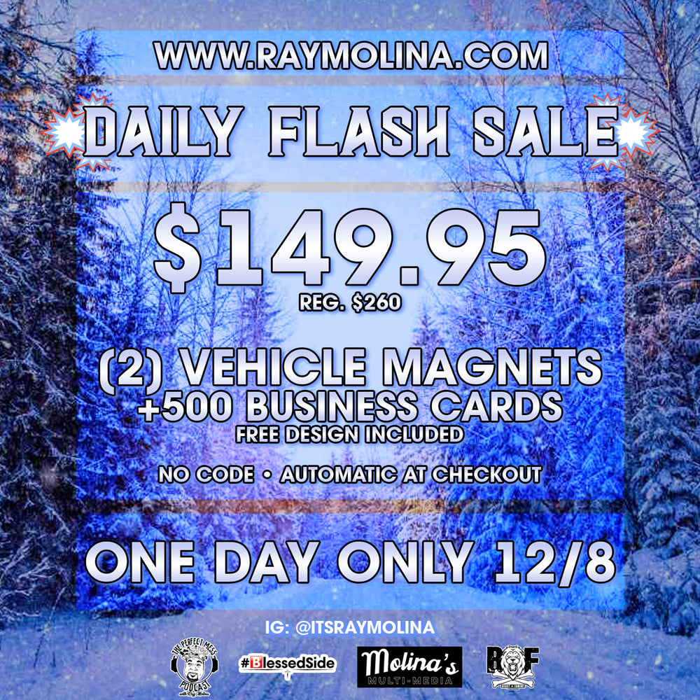 Today's Daily Flash Sale - Car Magnets & Business Cards!