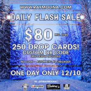 Today's Daily Flash Sale! - 250 Drop Cards!