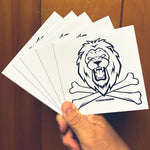 Beast or Famine (5 Pack Lion Sticker)