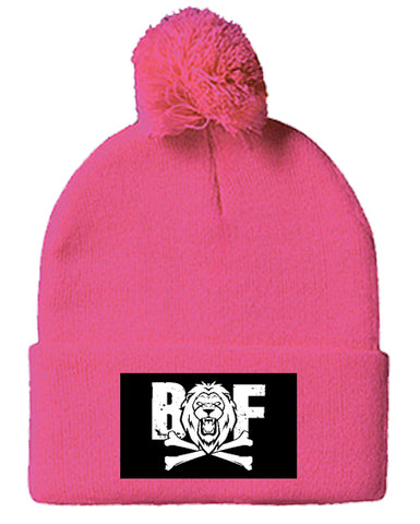 Beast or Famine PomPom Beanie Neon Pink