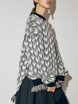 Feater Pattern Sweater