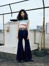 【MQ】Daisy Petal Denim Pants